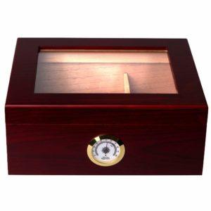 Mantello Cigar Desktop Humidor Royale Glasstop