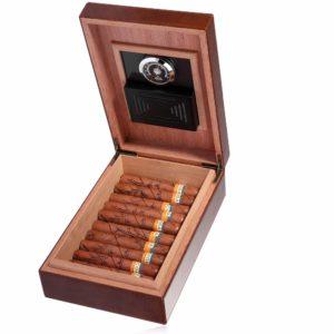 MEGACRA Cedar Cigar Humidor, Leather Cigar Box