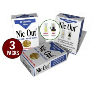 Nic-Out Cigarette Filters 3 Packs